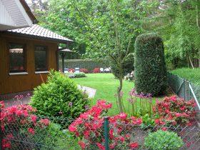 Ferienhaus Ahlers-Eck in Meppen/Bokeloh - Blick in den Garten