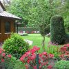 Ferienhaus Hasetal - Blick in den Garten